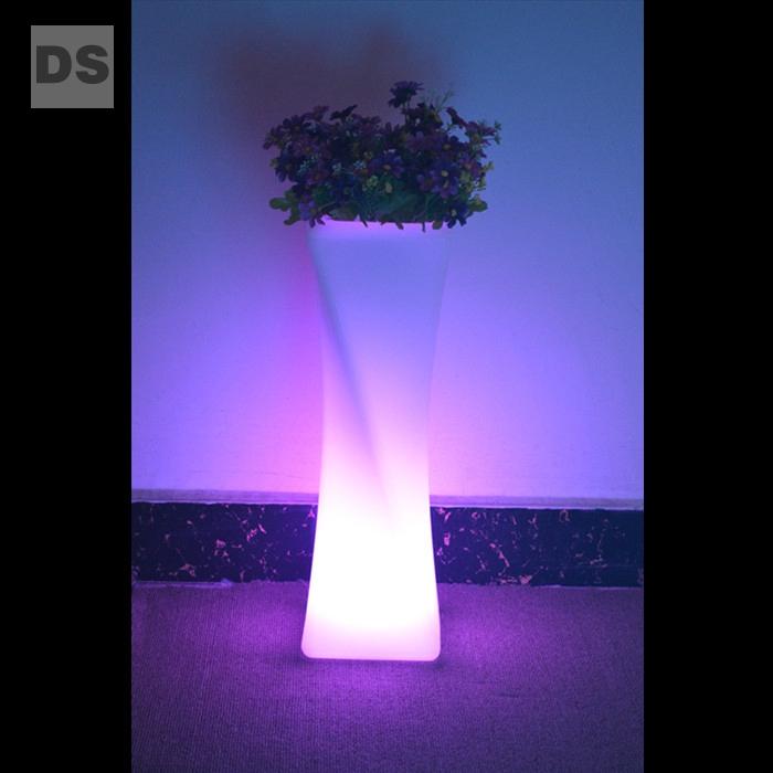 furniture remote control plastic luminous vase