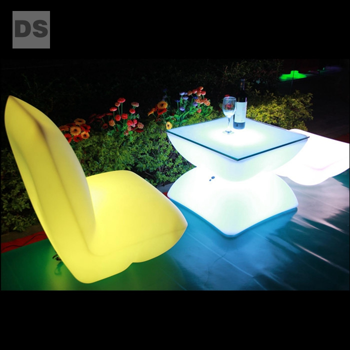 colorful waterproof LED light  sofa dining tables and chairs