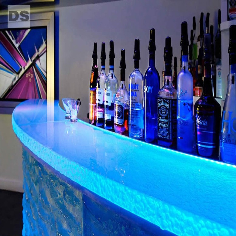 Hot-melt glass - bar counter