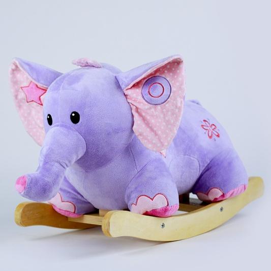 Purple Elephant Rocking Horse